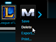 Deleting League of Legends profile