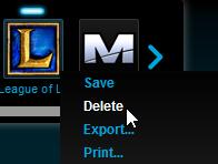 Deleting League of Legends profile