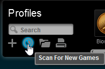 Logitech Gaming Software Scan for new Games