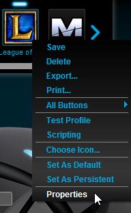 Logitech Gaming Software Profile Properties