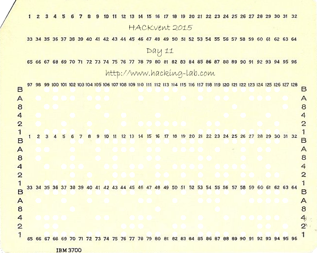 HV15 Day 11 Punch Card