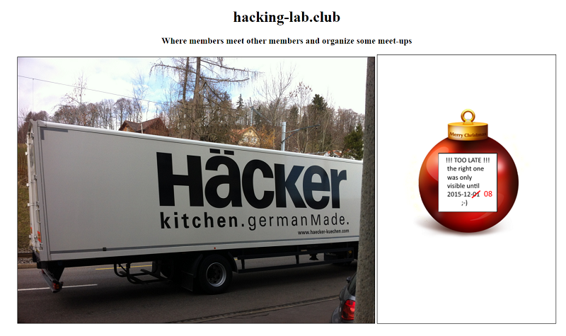 Hacking-Lab Club Webpage