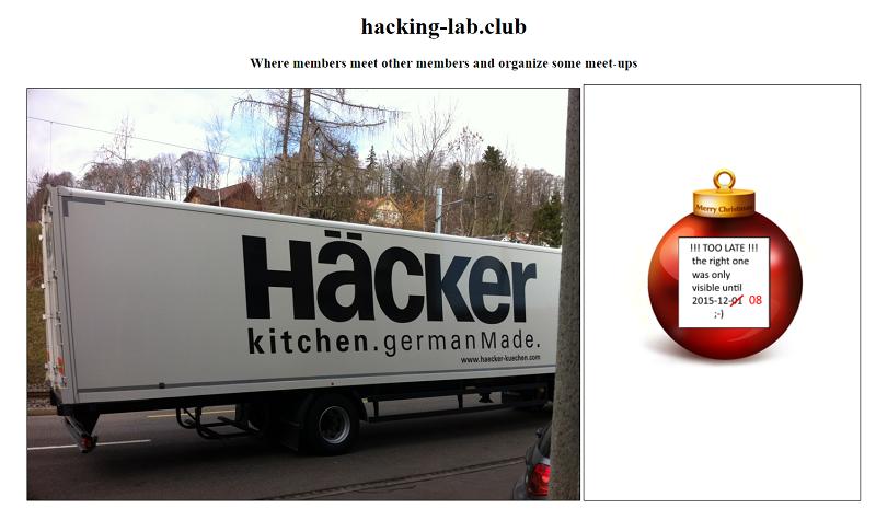 Hacking-Lab Club Webpage