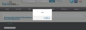 backlinks.com XSS Vulnerability