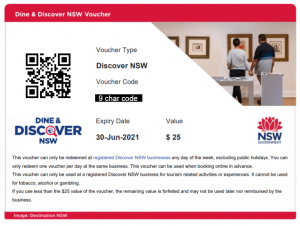 Discover NSW Voucher