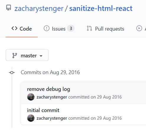 sanitize-html-react Github Repo
