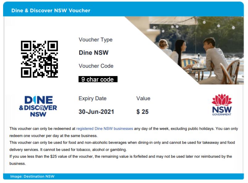 Dine NSW Voucher