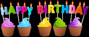Happy Birthday with Cupcakes