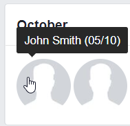 Facebook Birthday Hover Tooltip