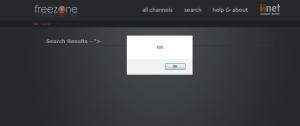 iiNet Freezone XSS vulnerability