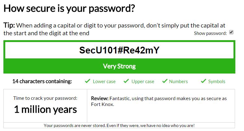 My1login Password Checker