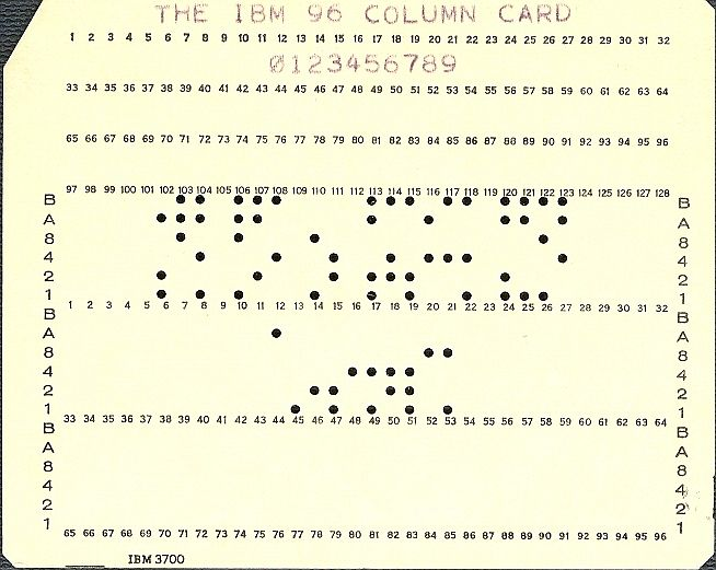 IBM 96 Punchcard