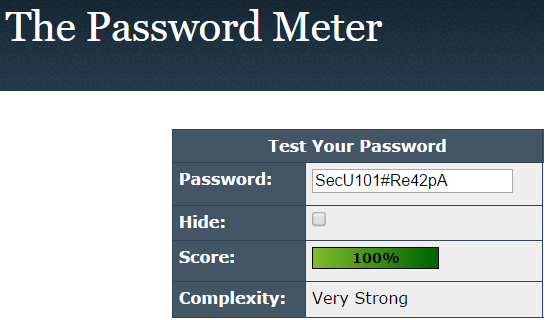 The Password Meter